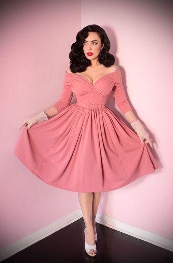 The Vixen by Micheline Pitt Rose Pink Starlet Swing Dress