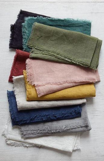 Linen Dish Towels / Natural Linen Tea Towels