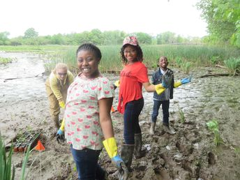 The Anacostia Watershed Society provides hands on learning opportunities to underserved K - 12 youth communities in the Maryland and DC areas.  The organization works with teachers to ensure the relevancy of program content for students and their communities. These outdoor programs help to integrate classroom education by introducing students to real world experiences within a context of local environmental projects with an opportunity to problem solve local issues. #bogs #outdooreducation