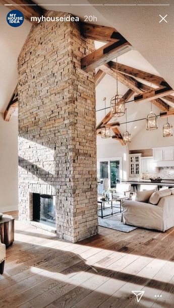 Centrally placed fireplace. But round.