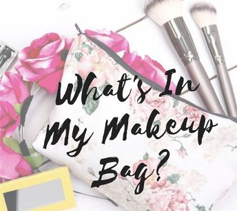 """""""What's In My Makeup Bag"""" is a new series on the blog! Want to know what's in my makeup bag for September? Read my latest blog post to find out!"""