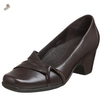 6e74a1e0a6422 Clarks Women's Fia Pump,Dark Brown,10 XW - Clarks pumps for women (