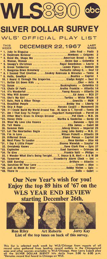 am 890 wls chicago music surveys chicago t music