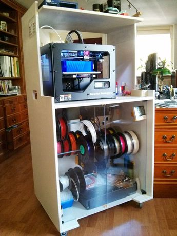 Cabinet+for+printer,+dry+storage+for+filament+with+easy+change+system+and+tooling.+3D+Printing+on+Wheels+-+workstation+by+GuidoZelf.
