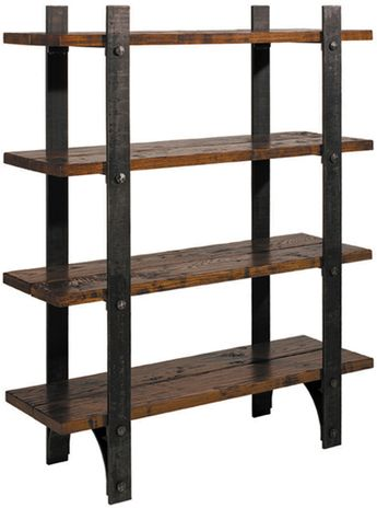 "Charleston Forge 6265 Retreat Bookcase 48""WX16""DX60""H. Choice of maple or oak, metal finishes, hand planing. No longer in production, but can make up on a custom basis."