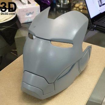 FREE Iron Man Mark Helmet Foam Pepakura file Template (Mark