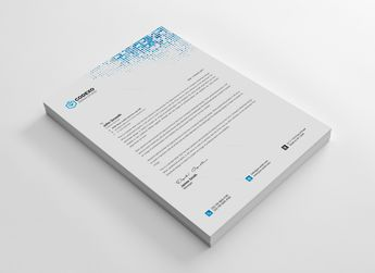 Letterhead Stationery Template - Graphic Templates