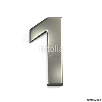 """Silver Number 1. 3D Render Illustration"" Stock photo and royalty-free images on Fotolia.com - Pic 194052962"