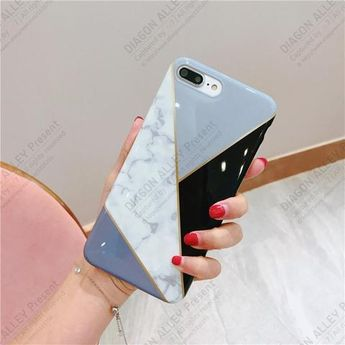 Geometric Polish Stitching Phone Case-TPU-TZEON-A-For iPhone 6 n 6S-TouchyStyle  Compatible iPhone Model:iPhone 6 Plus,iPhone 6,iPhone 6s,iPhone 6s plus,iPhone 7,iPhone 7 Plus,iPhone 8 Plus,iPhone 8,iPhone X.
