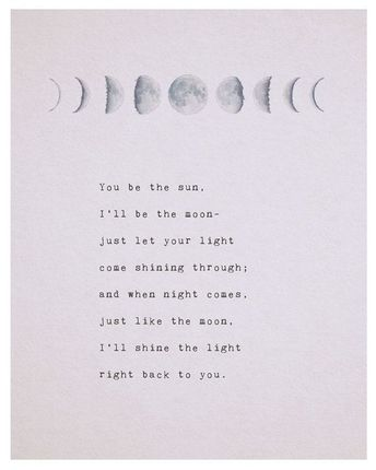 Love poem you be the sun, Ill be the moon, phases of the moon, love poetry, gifts for her, romantic gift, moon art, long distance quote