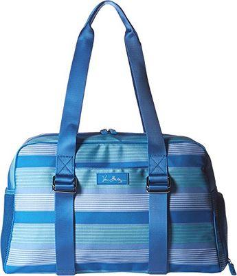 Vera Bradley Luggage Womens Lighten Up Yoga Sport Bag Blue Tonal Stripe Duffel  Bag    579ff9d3ed587