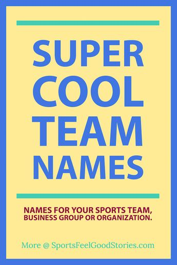 Funny Team Names for Your Squad or Group
