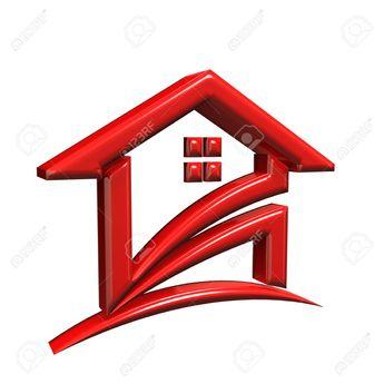 Red House. 3D Rendering Illustration