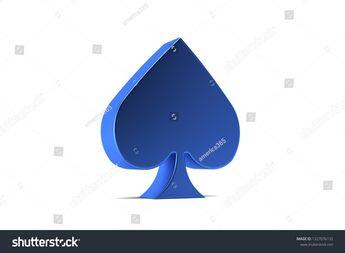 Spike Poker Card Symbol. 3D Render Illustration  #background #entertainment #ace #fortune #symbol #club #illustration #playing #winner #money #blackjack #fun #sign #betting #lucky #design #blue #3d #casino