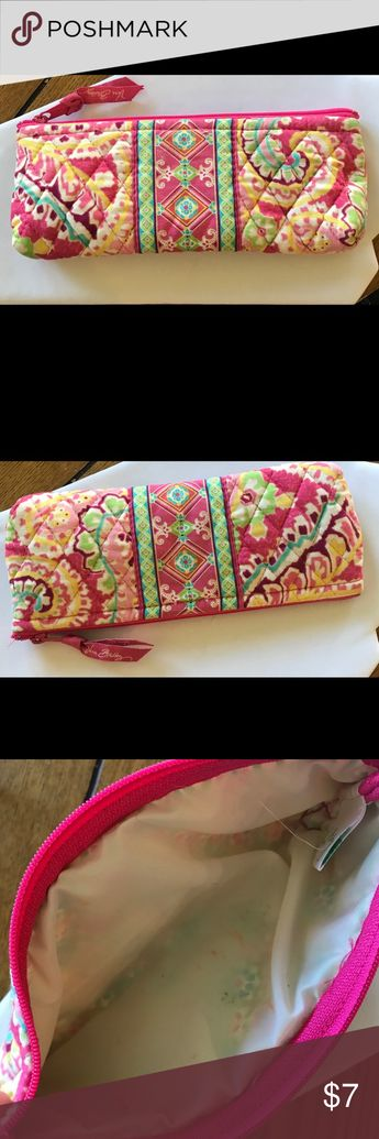 Vera Bradley Makeup Bag Small Vera Bradley makeup bag. Please note pictures there are some small stains inside the bag. This bag has been washed and is washable. Vera Bradley Bags Mini Bags