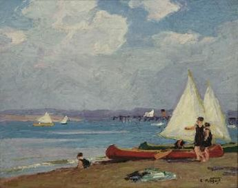 Canoeing by Edward Henry Potthast   Blouin Art Sales Index