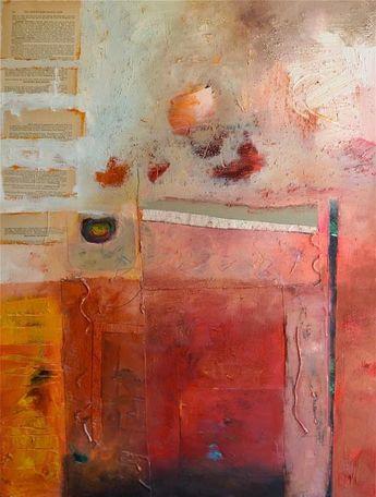 Alayne Spafford #artiste #contemporain contemporary art abstract art red