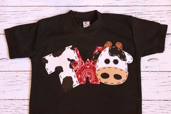 Barnyard Birthday Shirt Two Cow 2nd T Barn Yard