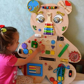Animal Busy board Sensory board Latch board Toddler toy Busyboard Educational toy Fidget board Busy book Christmas baby toy Gift 2 year old