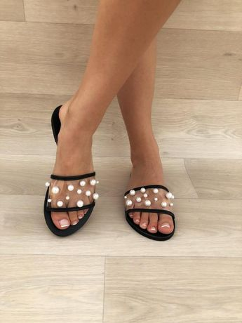 Handmade Sandals, White Pearls Sandals, Leather Sandals, Greek Sandals, Leather Slides Sandals, Gift for Her, Made from 100% Genuine Leather