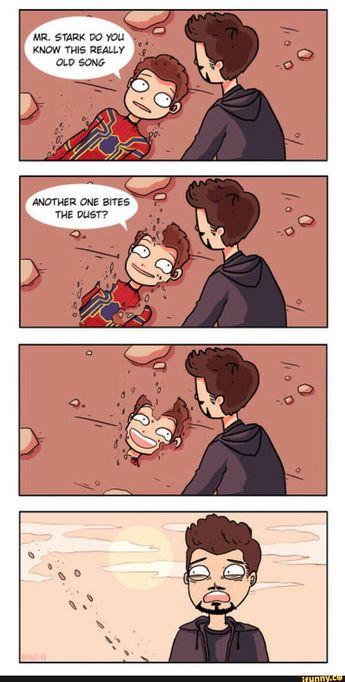another one bites the dust, Infinity War, Avengers, film, comics, comic books, comic book movies, Marvel comics, 2010s, 10s, 2018