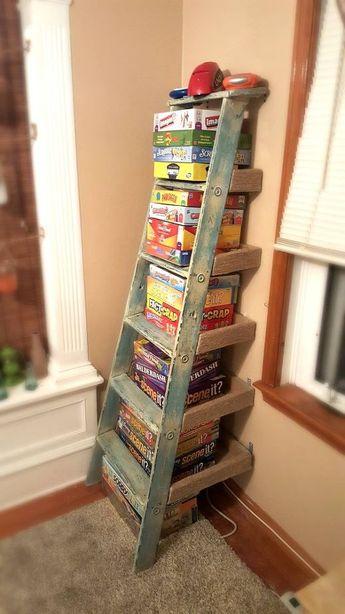 How to Make a Ladder Shelf DIY!