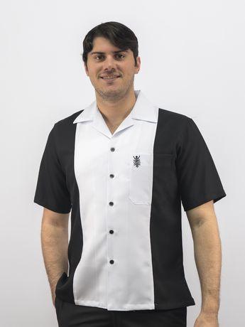 d00150056d Cuban Retro Casual Shirt White  Black Made in Miami D Accord 5032 Cuban  Retro