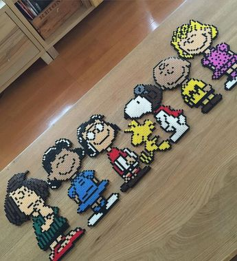 Peanuts perler beads by a.ai44                              …