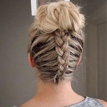 "Lydia on Instagram: ""#pressplay New #tutorial 💕backwards Dutch braid into messy bun #hairtutorial #hair #hudabeauty xxx"""