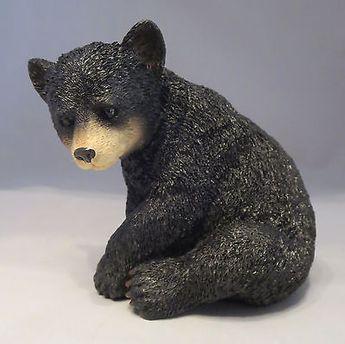 Black BEAR Sitting Figurine Sculpture NEW Statue Bears Wild Animals Wildlife