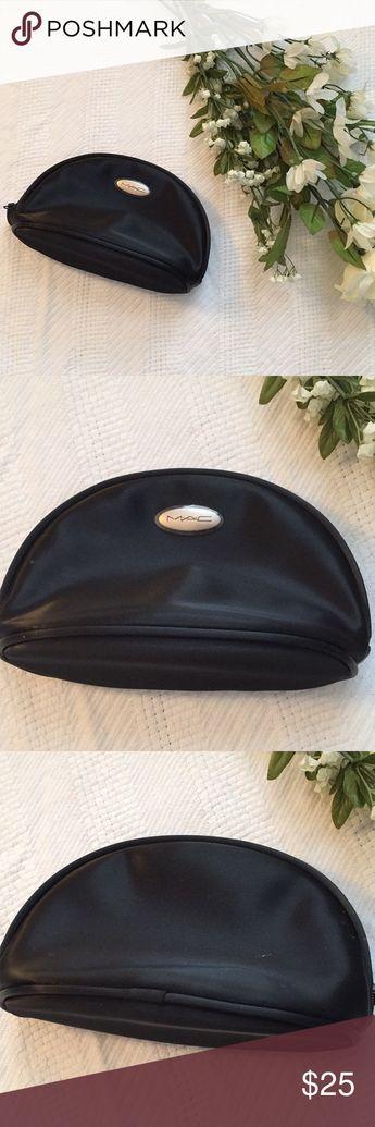 "Mac Black Vinyl Makeup Bag Mac makeup bag Vinyl material.  Zippered closure Length: 7"" Width: 2.5"" Height: approximately 5"" MAC Cosmetics Bags Cosmetic Bags & Cases"