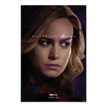 Endgame | Avenge The Fallen - Captain Marvel Poster | Zazzle.com