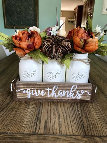 58 Cheapest DIY Fall Decorations with Mason Jars