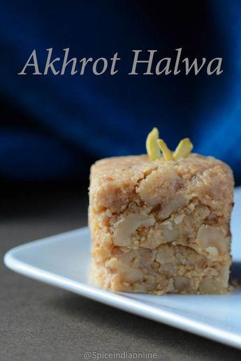 WALNUT HALWA RECIPE- Akhrot Halwa