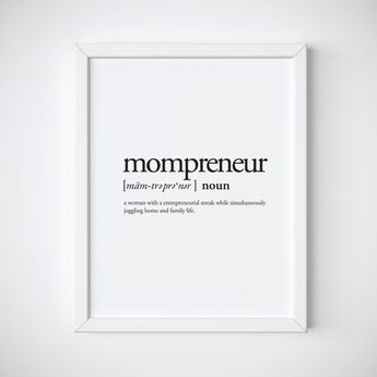 Gift for mom - mompreneur - dictionary print - definition printable - typography print - funny print - gift for friend