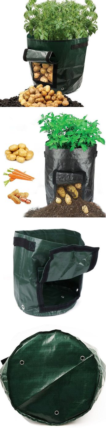 $10.99 USD Only! Buy More Save More! Shop Now >> 50L Large Capacity Potato Grow Planter PE Container Bag Pouch Tomato Vegatables Garden Outdoor