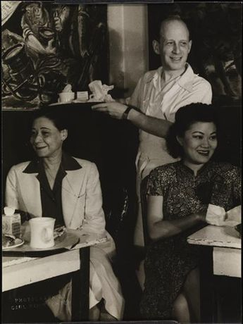 Pictured, seated on the left Soror Founder Oseola Macarthy Adams.