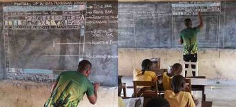 Teacher's Painstaking Microsoft Diagrams Spurs Them to Give Back to His Ghana School