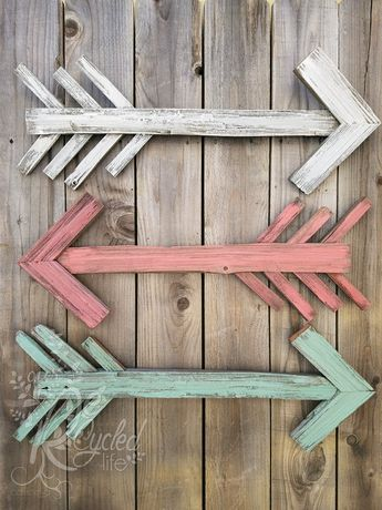Reclaimed Wood Arrow (single arrow), Nursery Room, Rustic Arrow, Arrow Wall Decor, Wedding Decortion Sign, Wedding, Home Decor, Baby Room