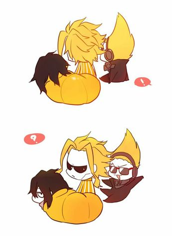 All Might, cute, chibi, text, sweater