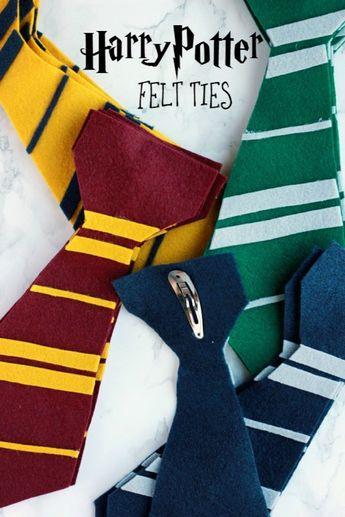 Harry Potter Felt Ties