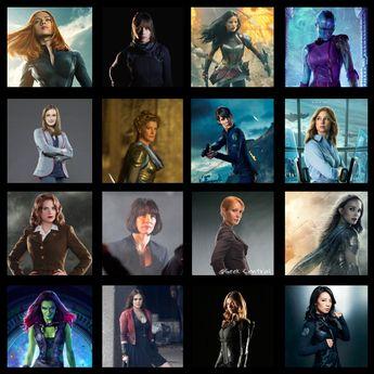 Ladies of the Marvel Cinematic Universe #MCU #Marvel #GirlPower