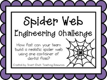 Spider Web: Engineering Challenge Project ~ Great STEM Activity
