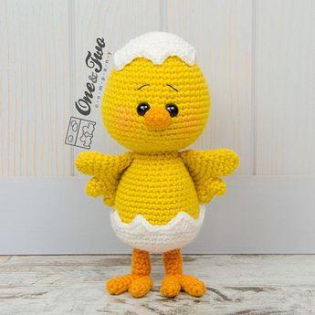 Coco the Little Chicken Amigurumi - PDF Crochet Pattern - I