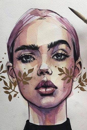 38 génial femme dessin