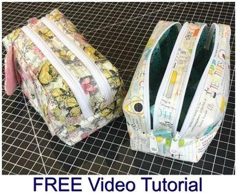Two zipper boxy bag - FREE pattern and video