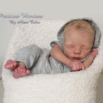 "Realborn® Leif Sleeping TWIN (18"" Reborn Doll Kit)"