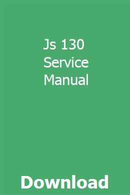 Js 130 Service Manual