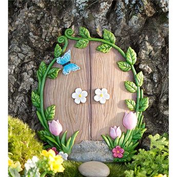 Miniature Fairy Garden Ivy Door Tree Accent   Miniature Fairy Gardens