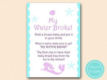 Mermaid Baby Shower Game Pack Beach Baby Shower Nautical